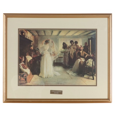"""Offset Lithograph After John Henry Frederick Bacon """"The Wedding Morning"""""""