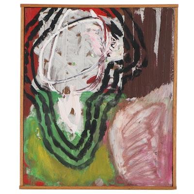 Jaclyn Hamilton and Saul Appelbaum Abstract Oil Painting