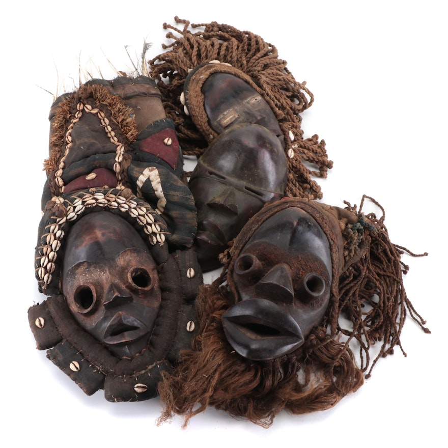 Dan Style Handcrafted Masks, West Africa
