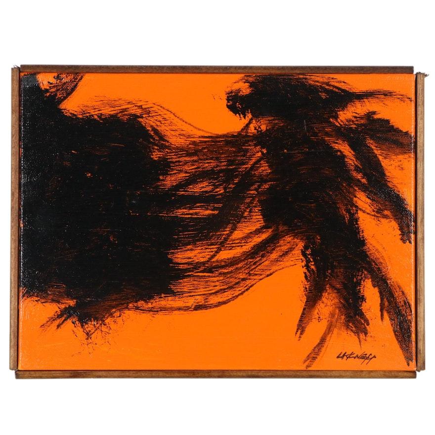 "Robert Lackney Abstract Acrylic Painting ""Eve's Sin"""