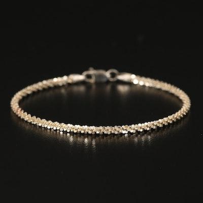 Sterling Sparkle Chain Bracelet