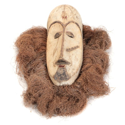 Fang Style Hand-Carved Wood Mask, Central Africa