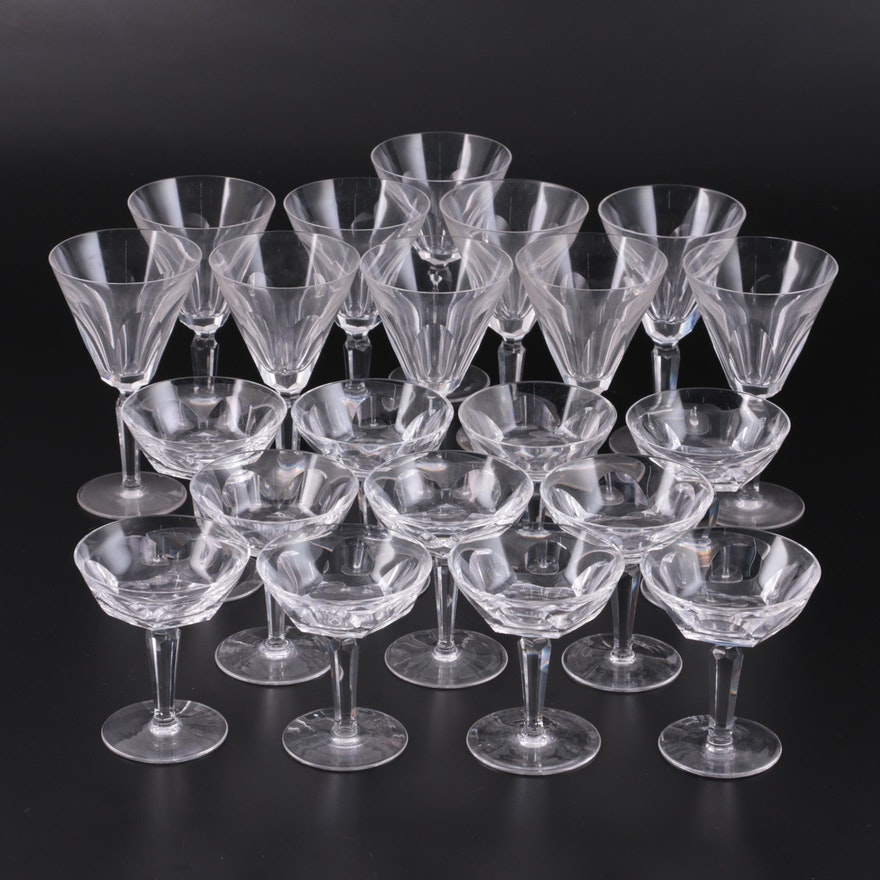 """Waterford Crystal """"Sheila"""" Water Goblets and Champagne Coupes, 1958–2017"""