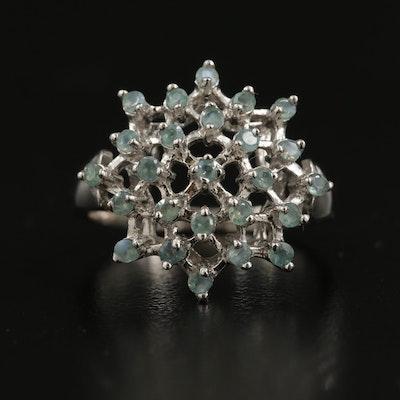 Sterling Alexandrite Openwork Ring