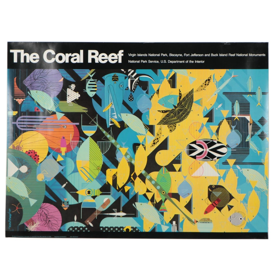 """Offset Lithograph After Charley Harper """"The Coral Reef,"""" 2008"""