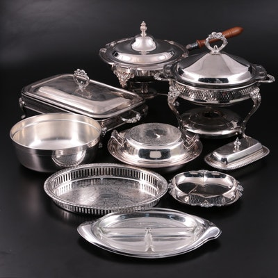 Rogers, Oneida, Gorham and Other Silver Plate Serveware, 20th Century