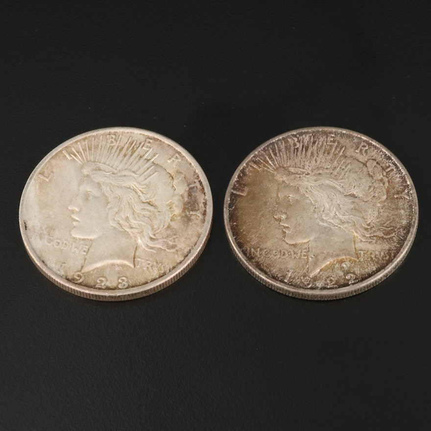 1922 and 1923 Silver Peace Dollars