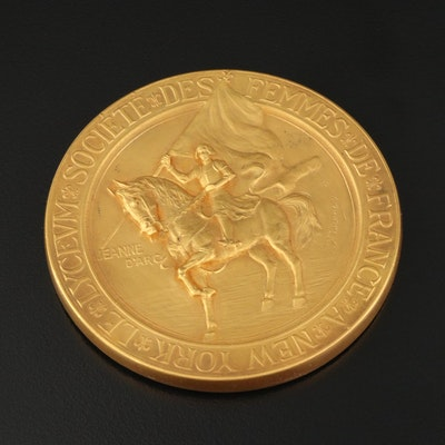 "Société des Femmes de France of New York ""Lyceum Prize"" Jeanne D'Arc Medal"