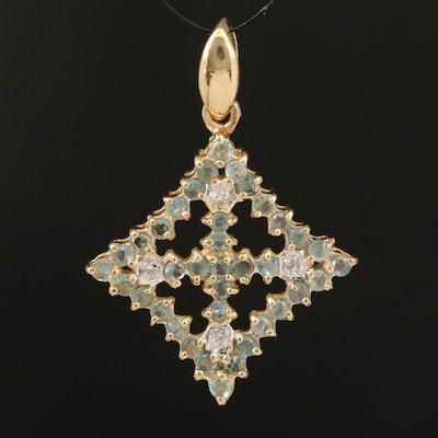 Sterling Alexandrite and Zircon Pendant
