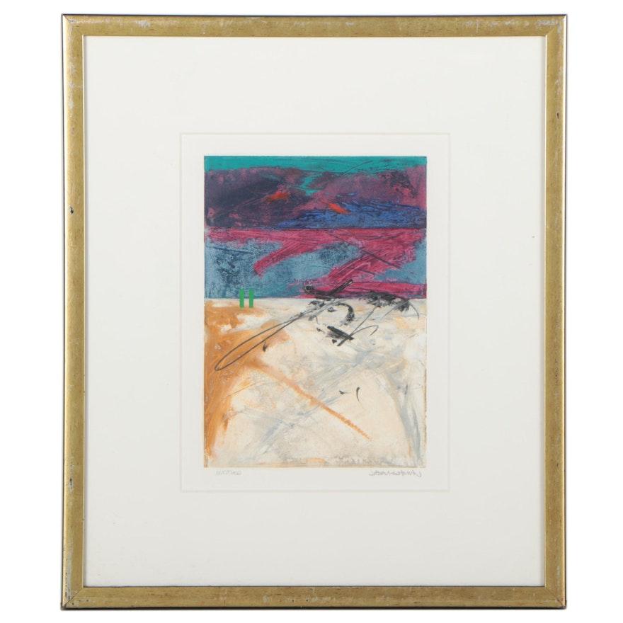 John Baughman Abstract Mixed Media Painting