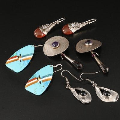 Sterling Drop Earrings Featuring Modernist Hope Konecny