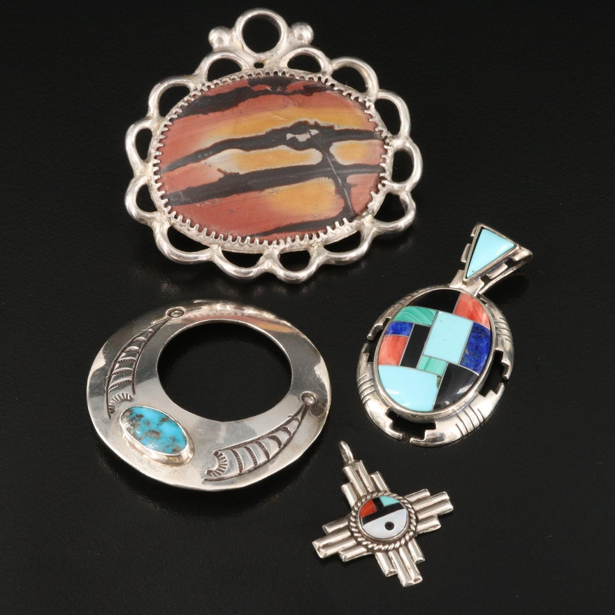Southwestern Style Jewelry Including Carollyn Pollack Pendant
