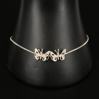 Sterling Butterfly Station Bracelet