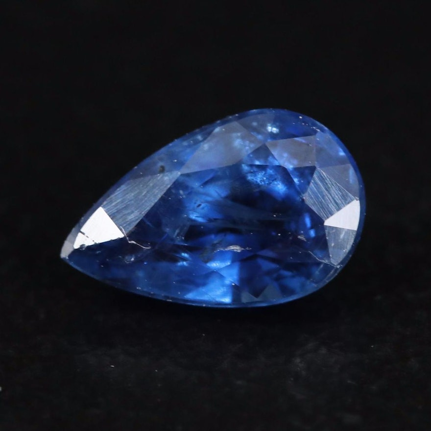 Loose 1.14 CT Pear Faceted Sapphire