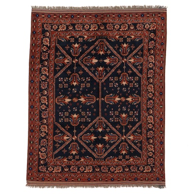 7'4 x 9'7 Hand-Knotted Indo-Turkish Oushak Area Rug