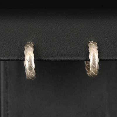 Sterling Fluted Hoop Earrings
