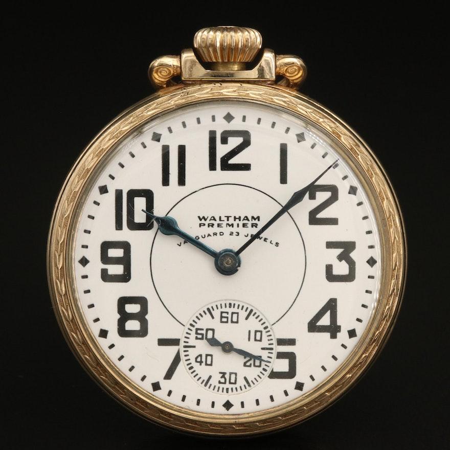 1942 Waltham Premier Railroad Grade Pocket Watch