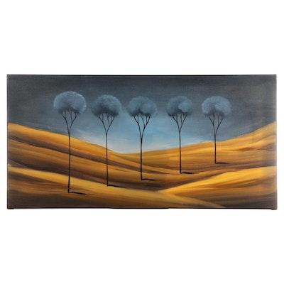 Surreal Landscape Acrylic Painting, 2004