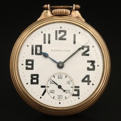 1944 - 1945 Hamilton Railroad Grade Pocket Watch