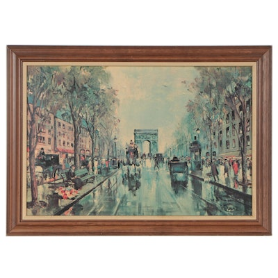 """Offset Lithograph After J. Dupre """"Glamour of Paris"""""""