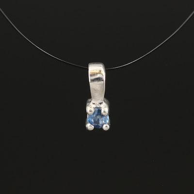 Sterling Sapphire Pendant
