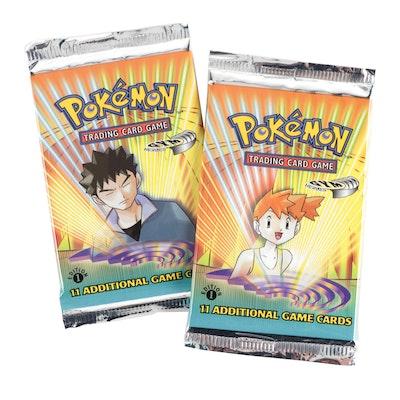 "Pokémon ""Gym Heroes"" Sealed ""Brock"" and ""Misty"" Trading Card Packs, 2000"