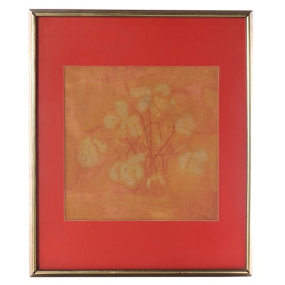 Abstract Floral Batik, Late 20th Century