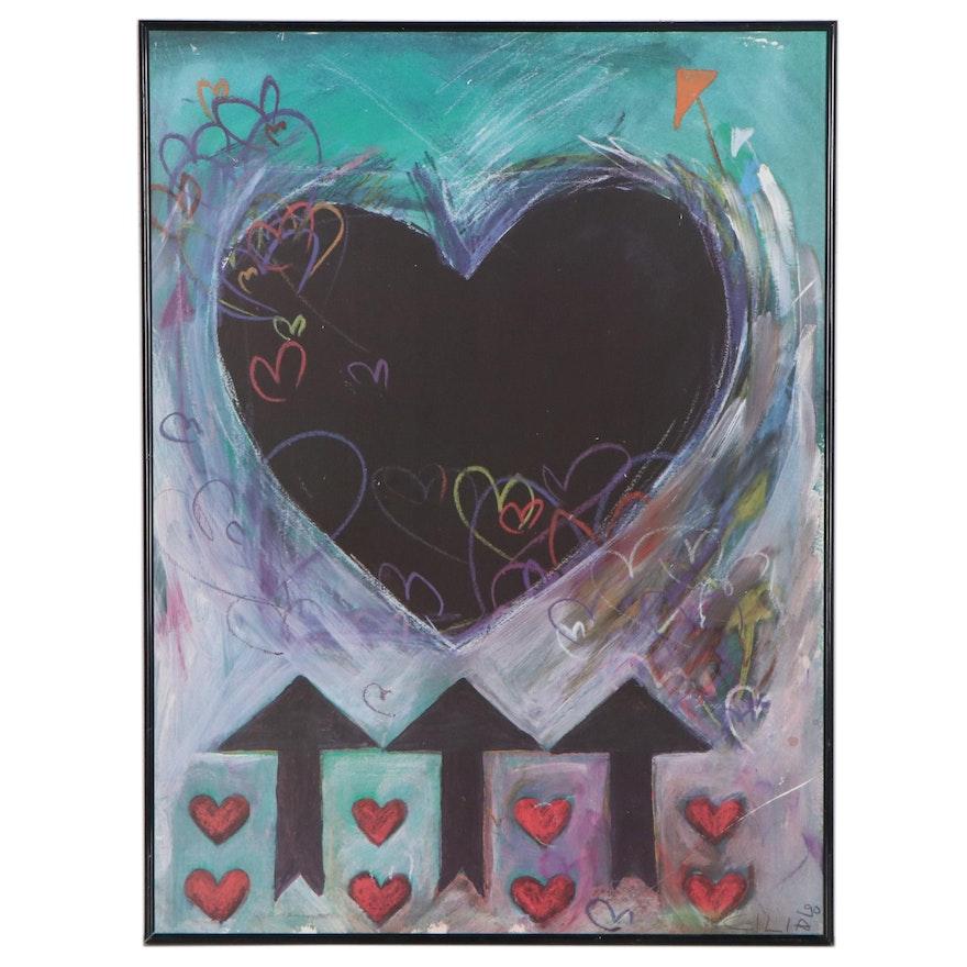 Abstract Hearts Offset Lithograph After Cilia de Munnik