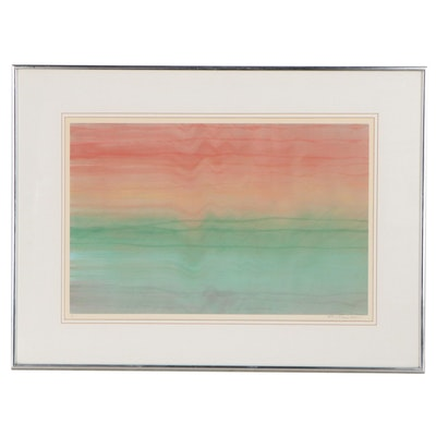 """Syd Kramer Abstract Serigraph """"Syd Smears"""""""