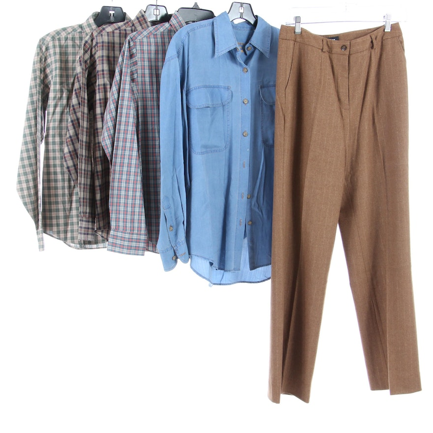 Ms. Sero and Barry Bricken Button-Down Shirts with Votre Nom Pants