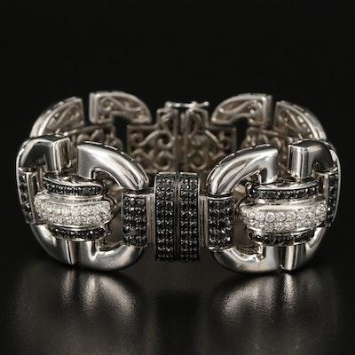 18K 11.04 CTW Diamond Fancy Link Bracelet