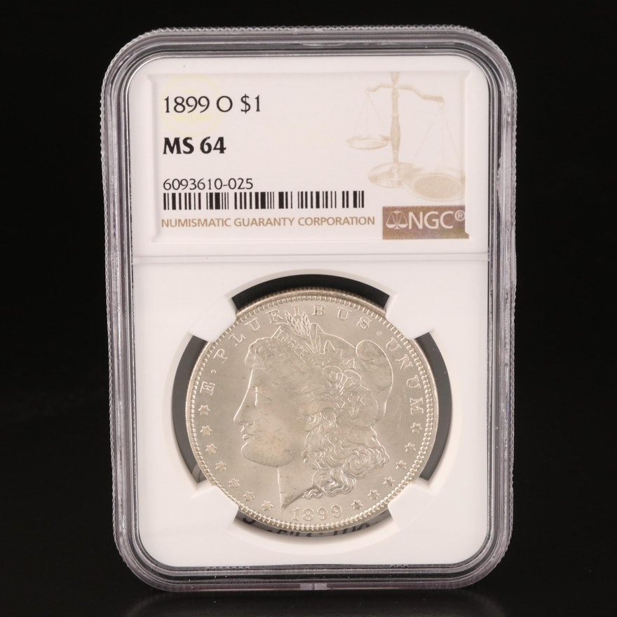NGC Graded MS64 1899-O Morgan Silver Dollar