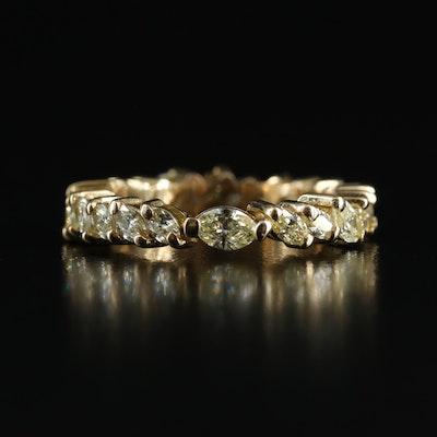 18K 2.01 CTW Diamond Eternity Band