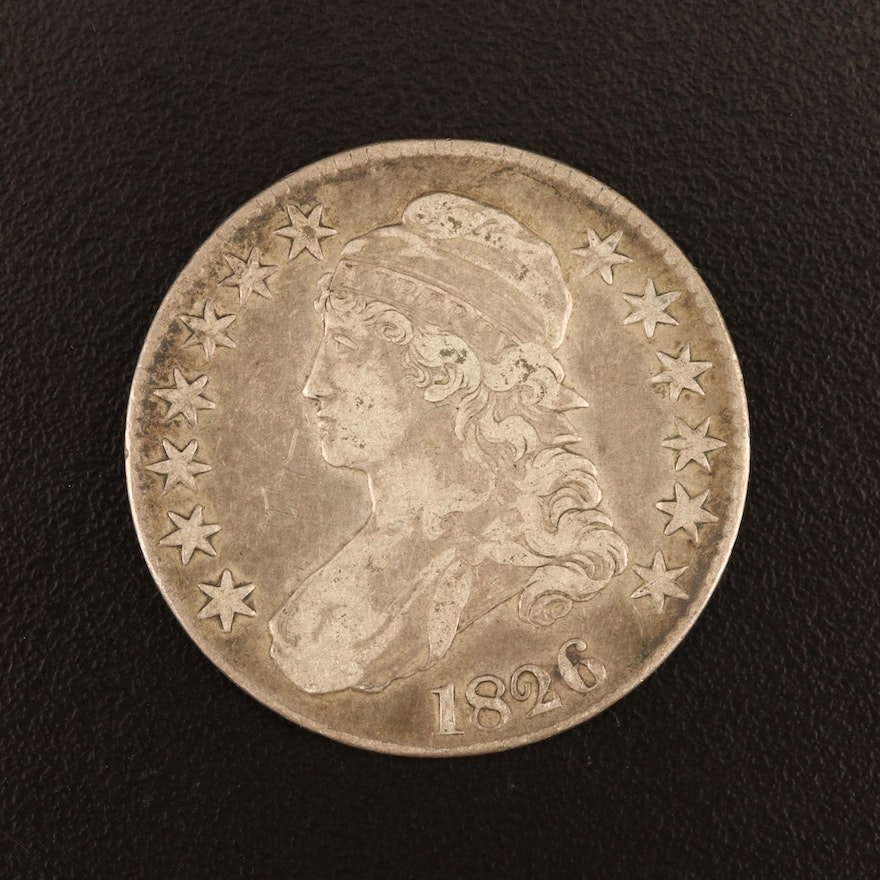 1826 Capped Bust Silver Half Dollar