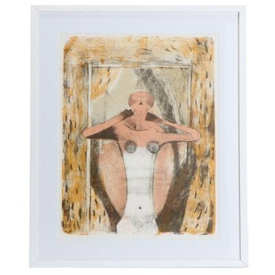 """Rufino Tamayo Color Lithograph """"Torse de Femme,"""" 1969"""