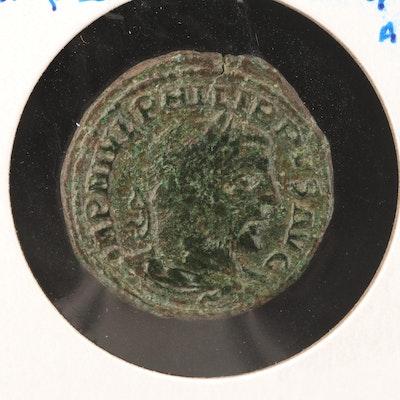 Ancient Moesia Superior-Viminacium AE30 Coin of Philip I, ca. 243 A.D.