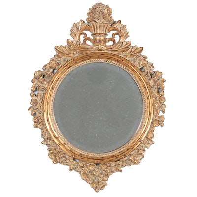 Baroque Style Giltwood Wall Mirror