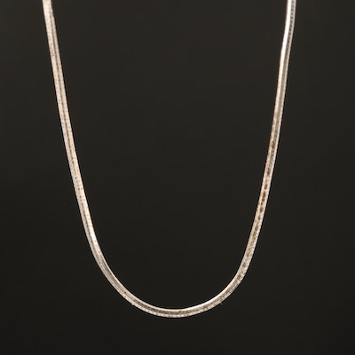 Italian Sterling Square Snake Chain Necklace