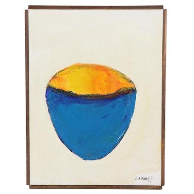"Robert Lackney Acrylic Painting ""Chalice"""