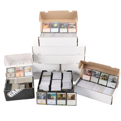 """1990s - 2000s """"Magic: The Gathering"""" Collection Featuring Rare Cards and Foils"""