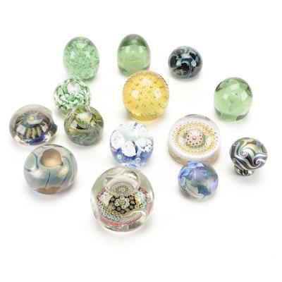 Charles Lotton, Robert Eickholt, and More Studio Art Glass Paperweights