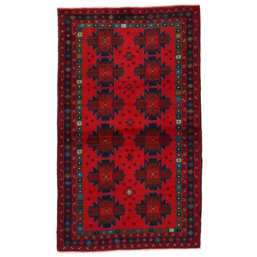 3'6 x 6' Hand-Knotted Afghan Baluch Area Rug