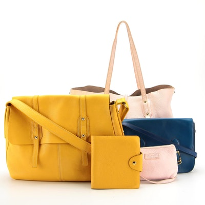 Leather Shoulder Bags by Ralph Lauren and J.McLaughlin with Pouch and Agenda