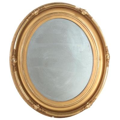 Oval Giltwood Framed Wall Mirror