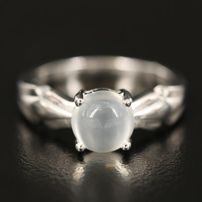 Sterling Silver Cat's Eye Moonstone Ring