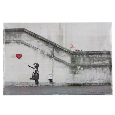 """Giclée After Banksy """"There Is Always Hope,"""" 2019"""