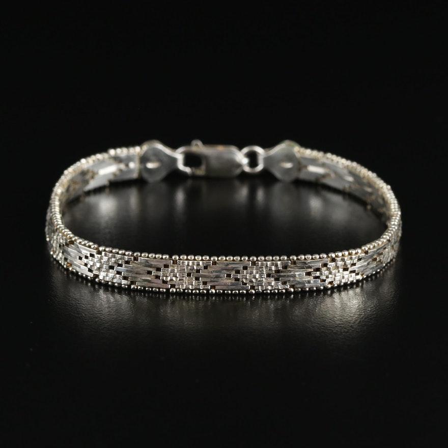 Italian Sterling Riccio Chain Bracelet
