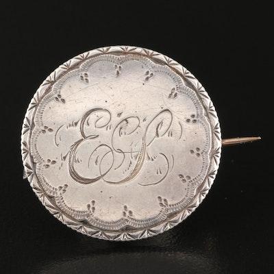 Antique Love Token Brooch