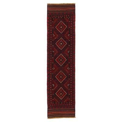 2'2 x 8'6 Hand-Knotted Afghan Turkmen Mixed Technique Carpet Runner