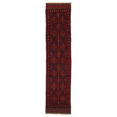 2'2 x 9'3 Hand-Knotted Afghan Turkmen Carpet Runner